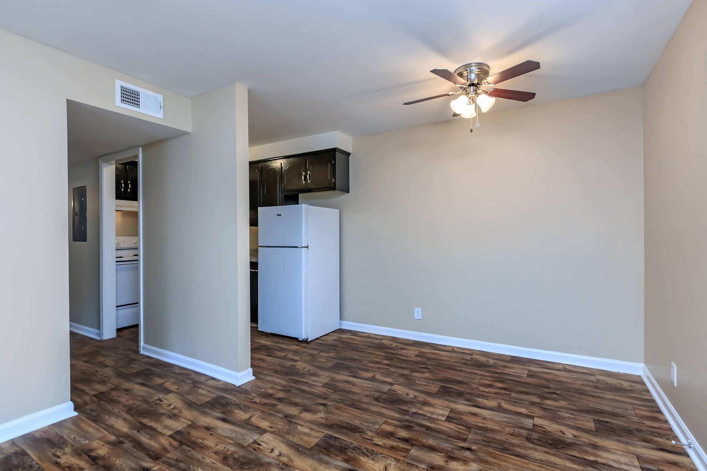Open floor plans at The Residences at 1671 Campbell in Clarksville, TN
