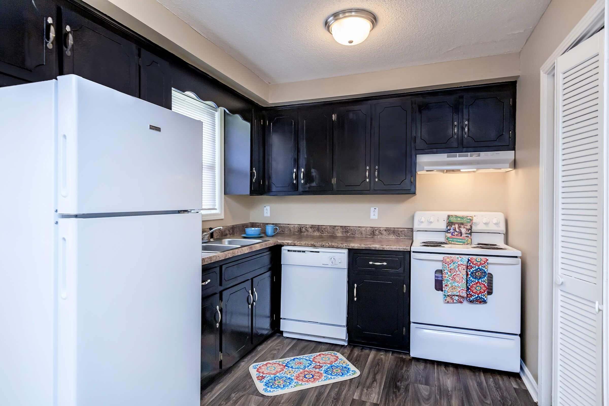 Well-equipped kitchens at The Residences at 1671 Campbell in Clarksville, TN