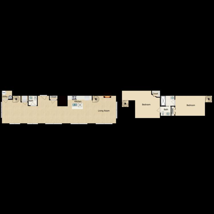 Floor plan image of 2 Bedroom Deluxe