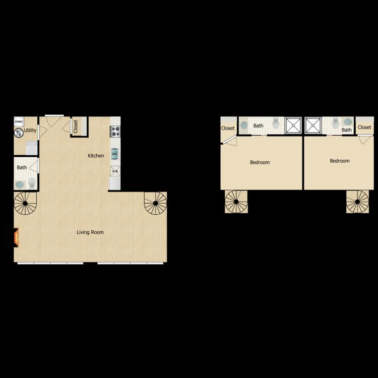 Floor plan image of 2 Bedroom Traditional