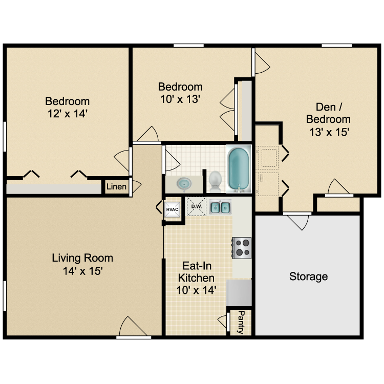 Floor plan image of Valley 3 Bedroom