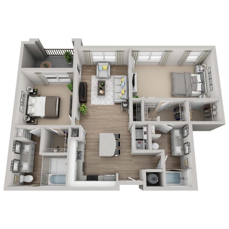 Floor plan image of Moss