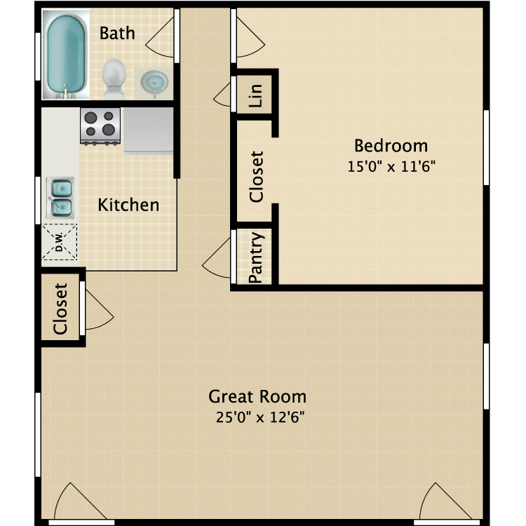 Floor plan image of Mt. Carmel