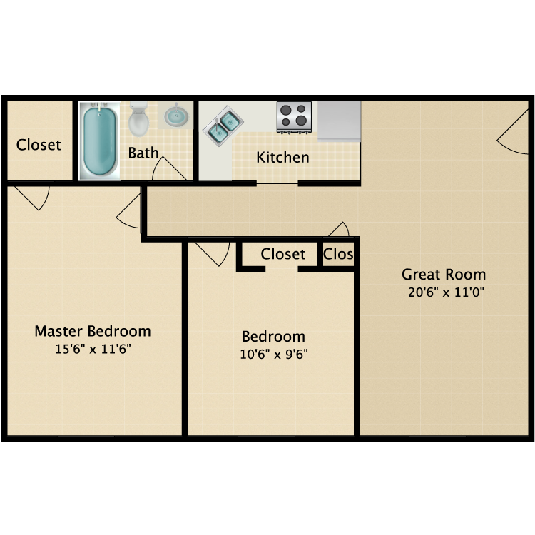 Floor plan image of The Whitney