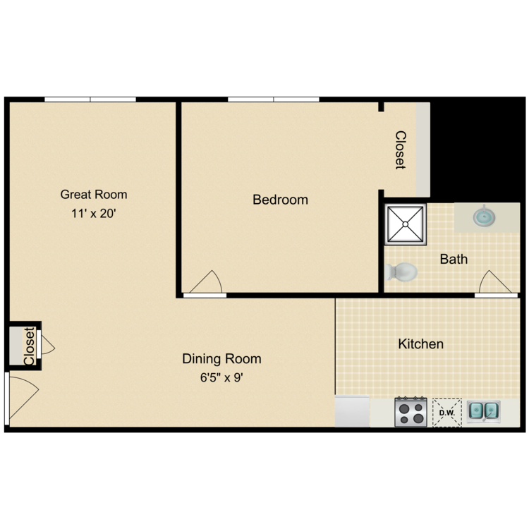 Floor plan image of The Dixwell