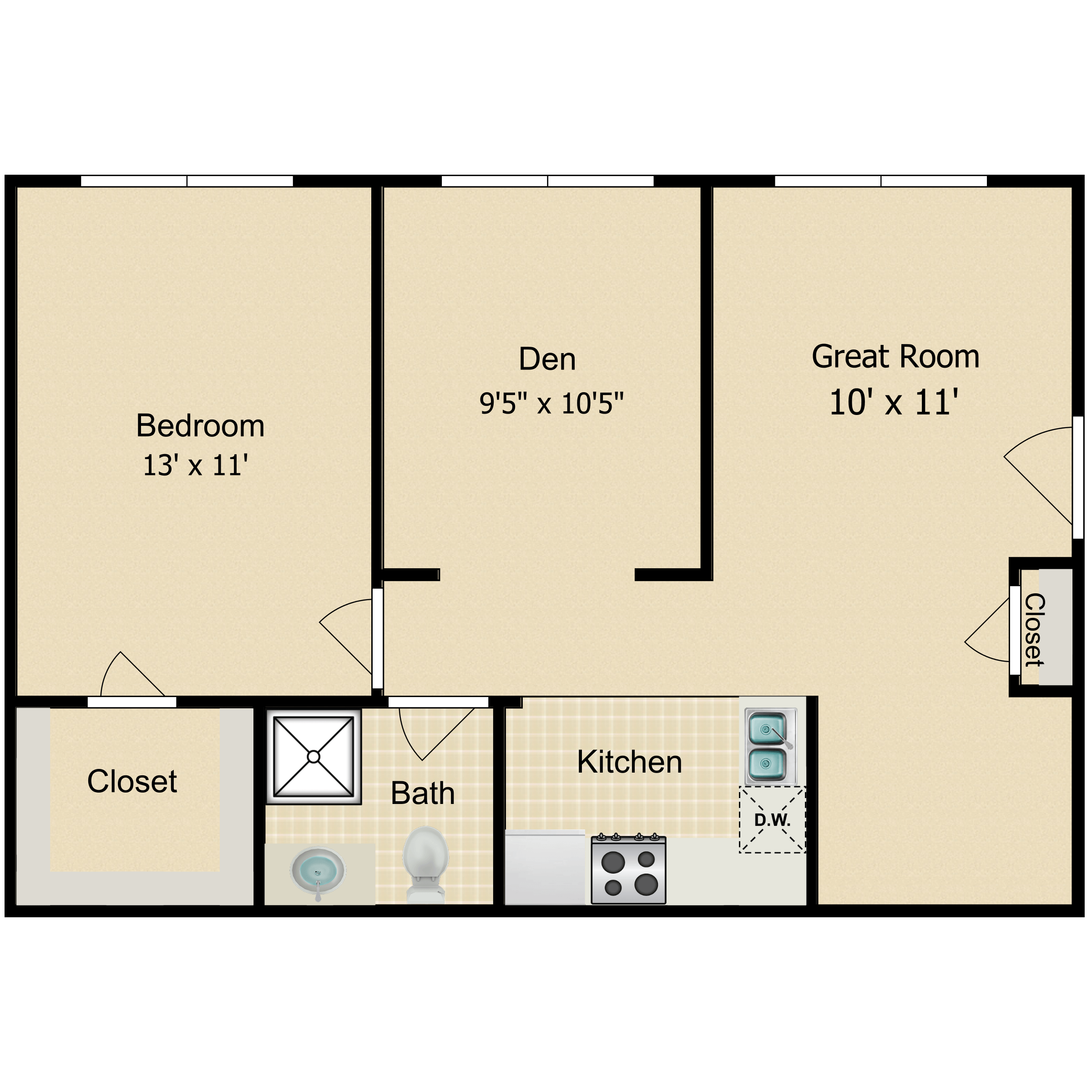 Floor plan image of The Quinnipiac