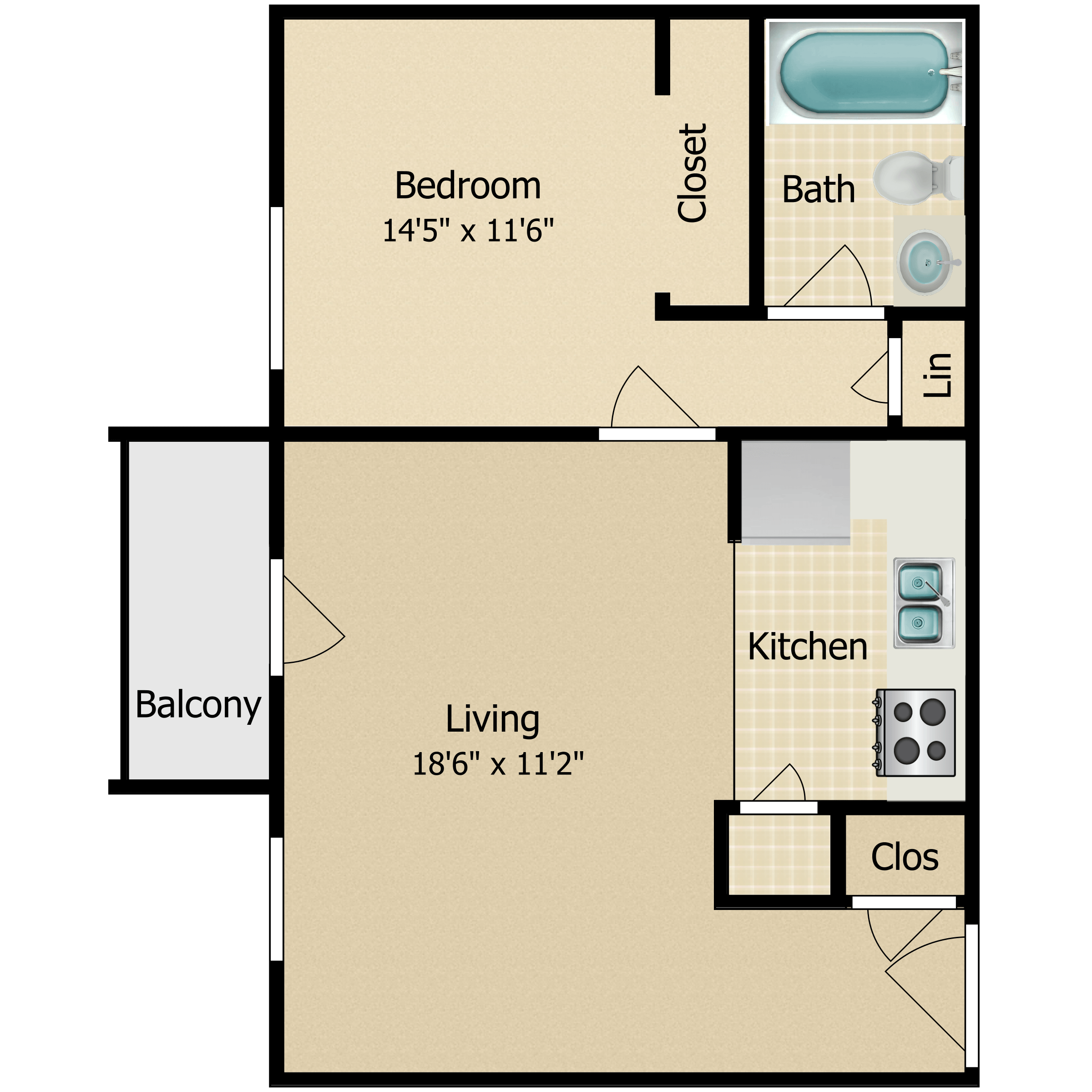 Floor plan image of The Constitutional