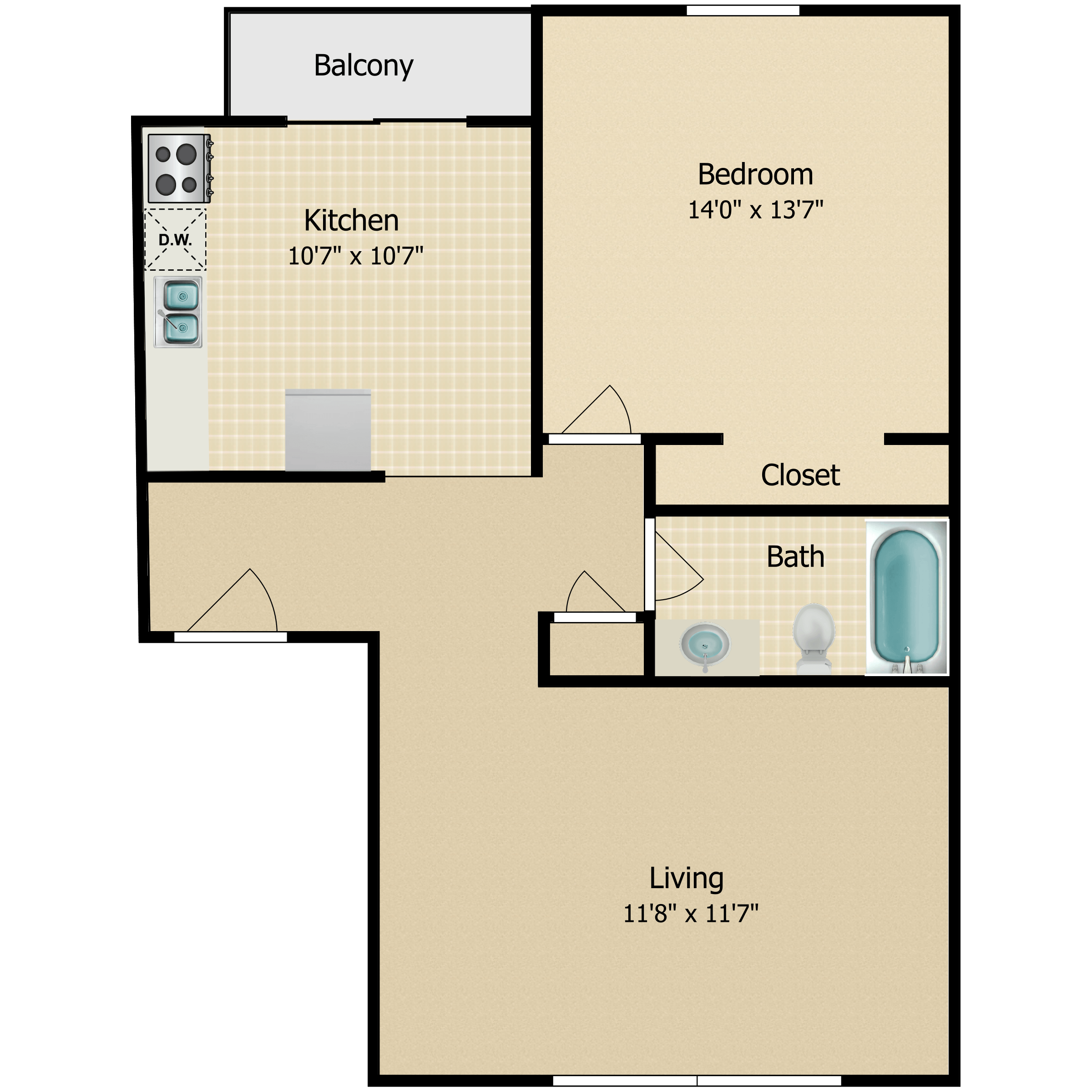 Floor plan image of The Harborside