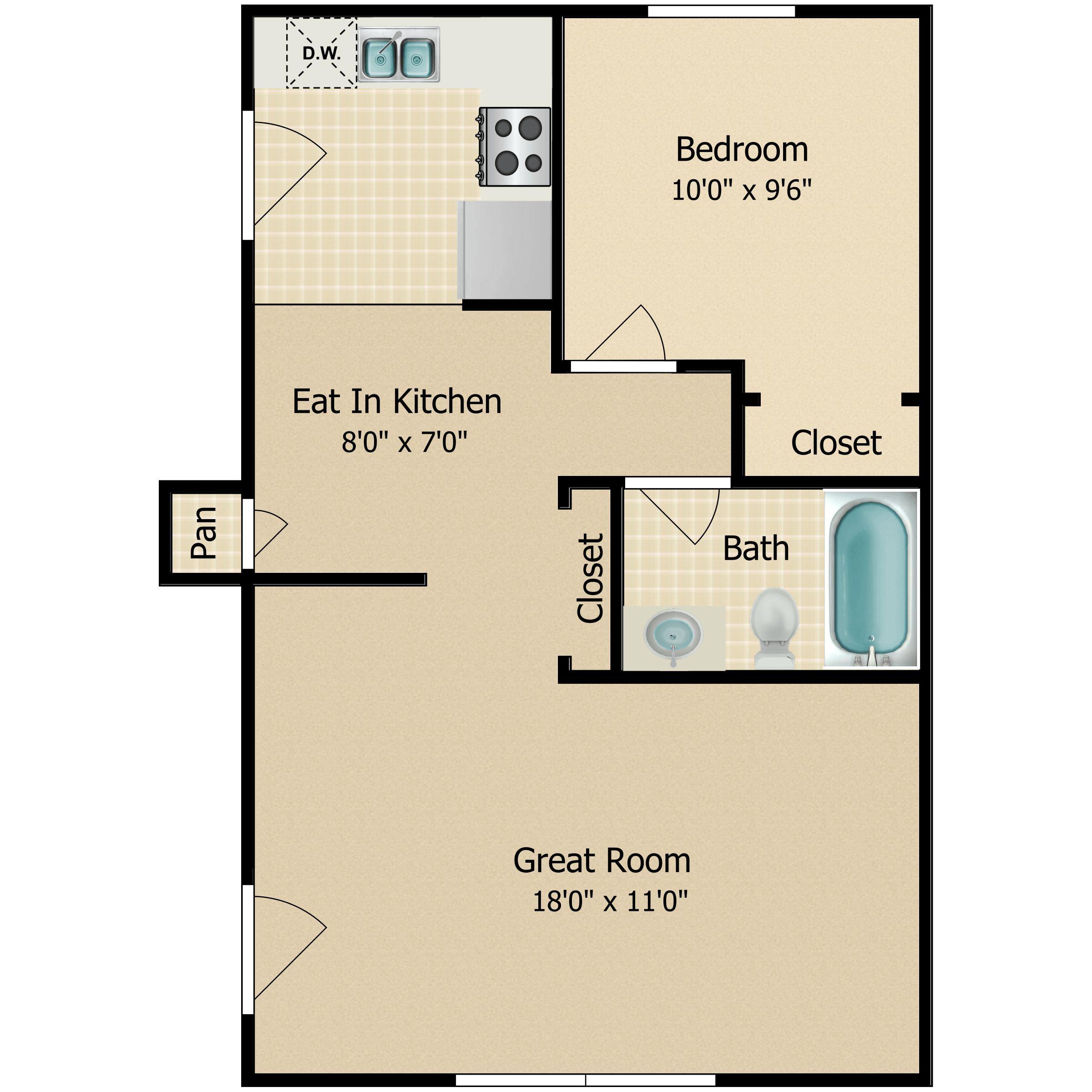 Floor plan image of The Hartford