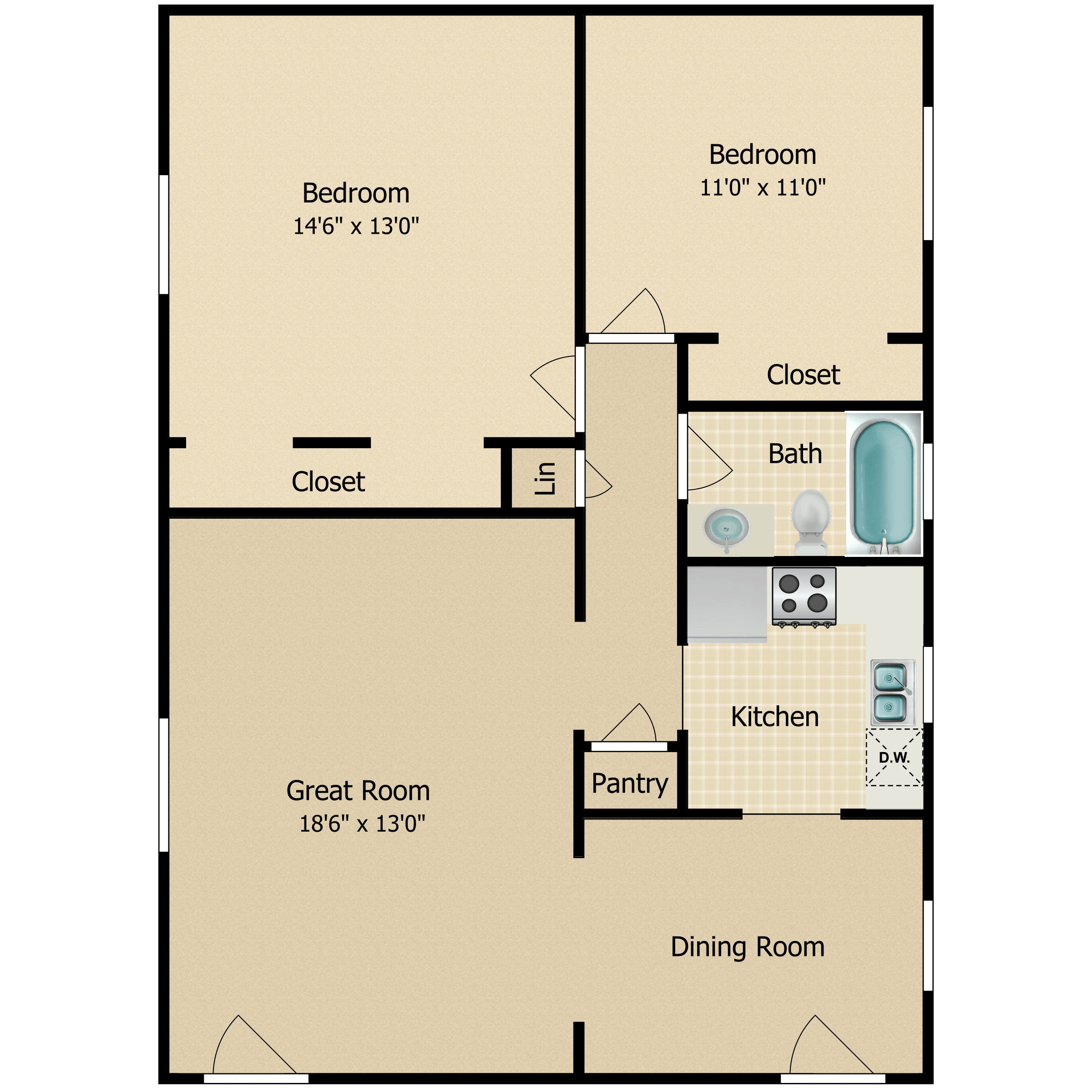Floor plan image of The Yale