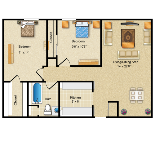 The Livingston floor plan image