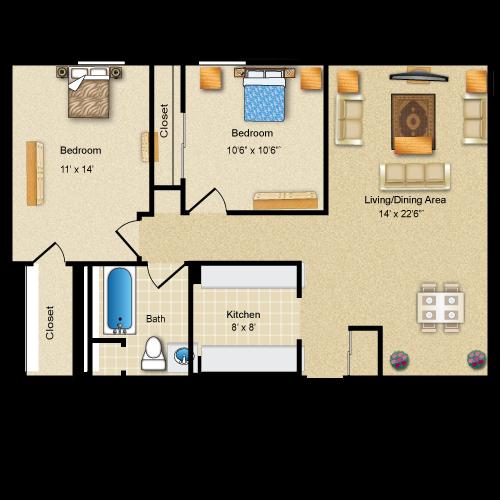Floor plan image of The Livingston