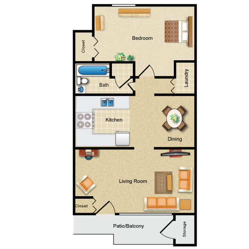 The Greenport floor plan image
