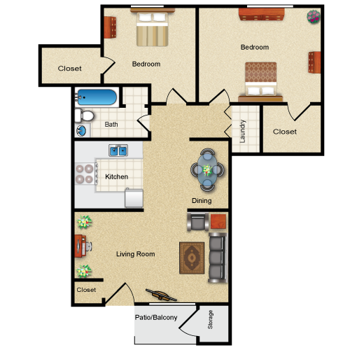 The Kinderhook floor plan image