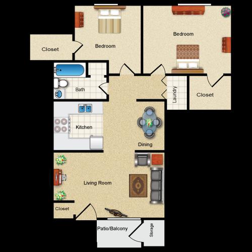 Floor plan image of The Kinderhook