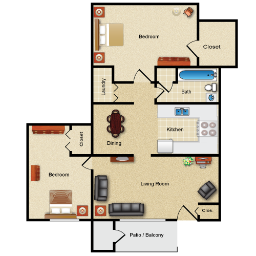 The Stuyvesant floor plan image