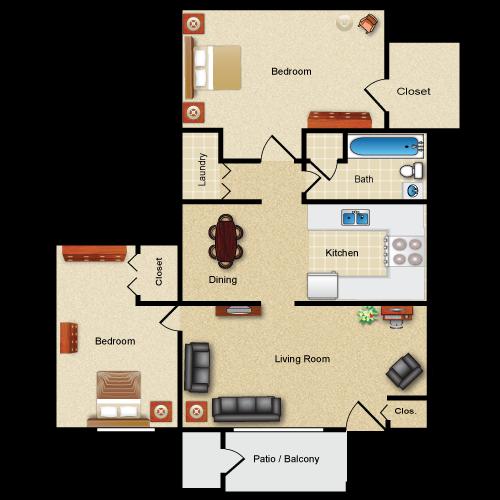 Floor plan image of The Stuyvesant