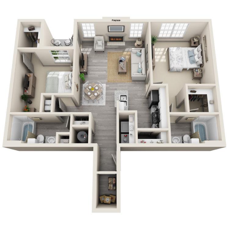 Floor plan image of The Lafayette Lower
