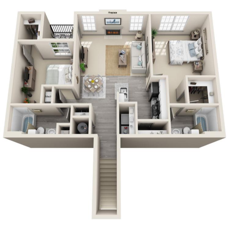 Floor plan image of The Lafayette Upper
