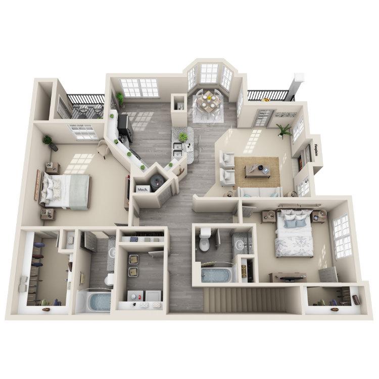 Floor plan image of The Piney Z