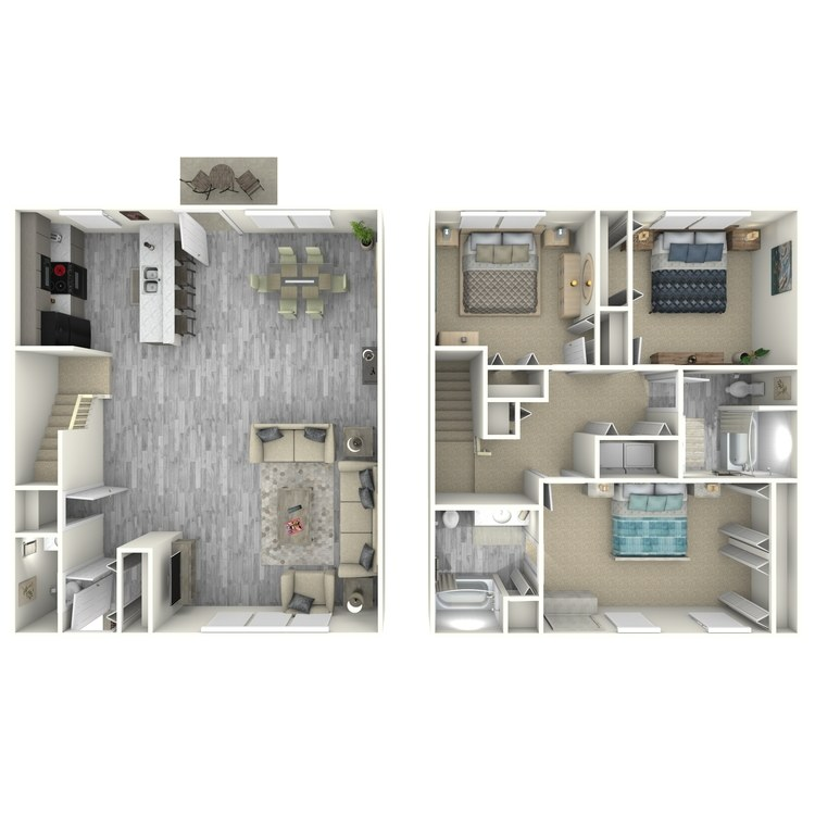 Floor plan image of 3 Bed Townhouse Style
