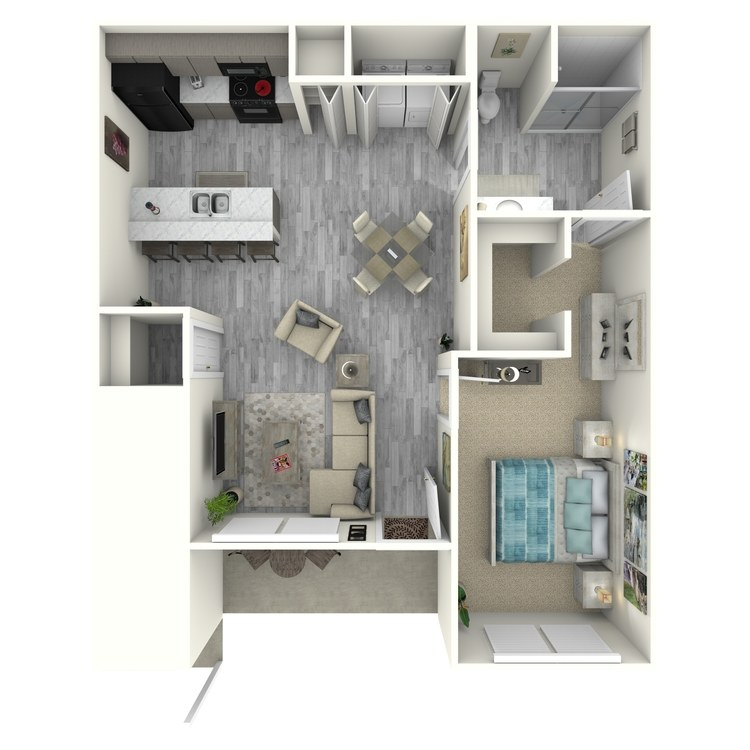 Floor plan image of 1 Bed Garden Style
