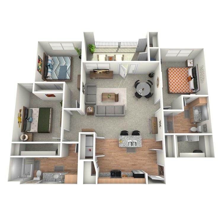 Floor plan image of Brazos