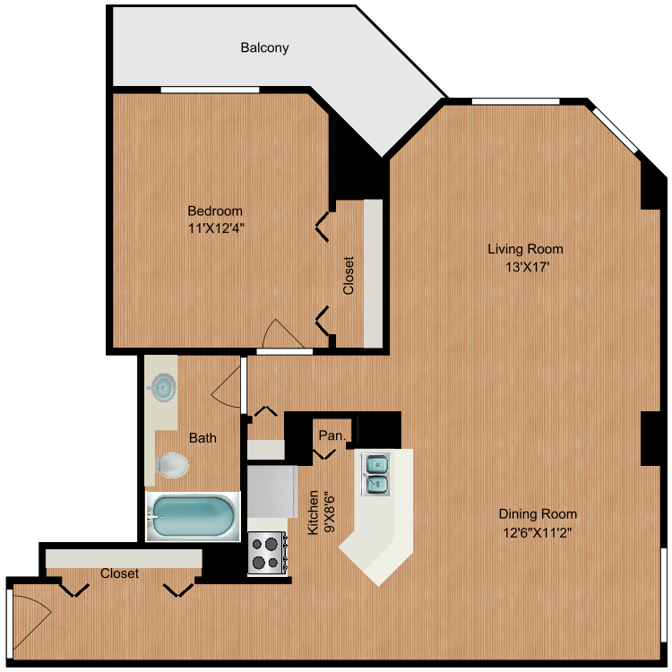 Floor plan image of B7