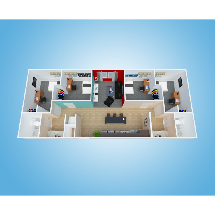 Floor plan image of 4x2