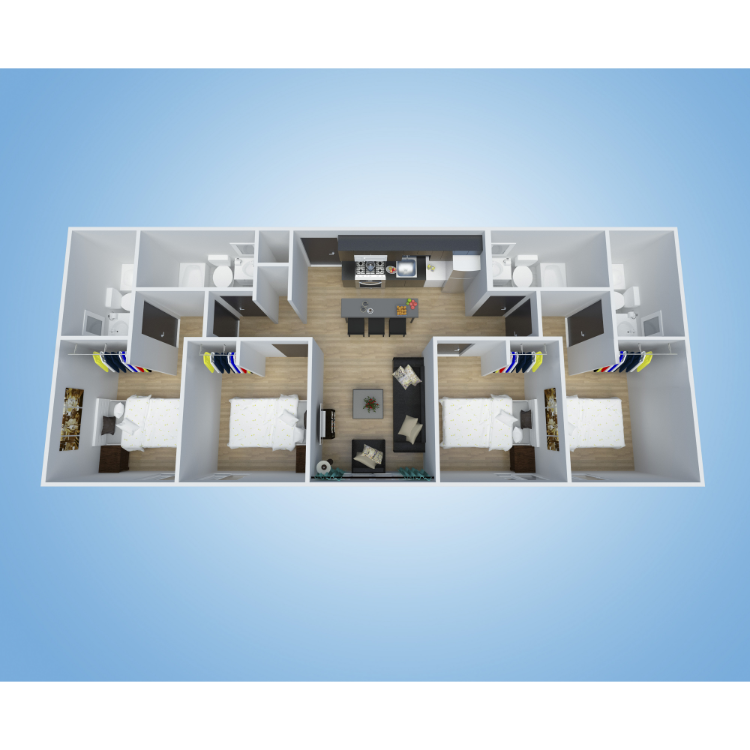 Floor plan image of 4x4