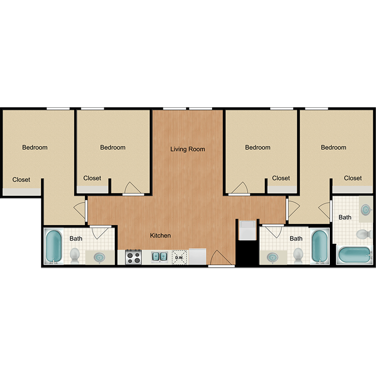 Floor plan image of 4x3