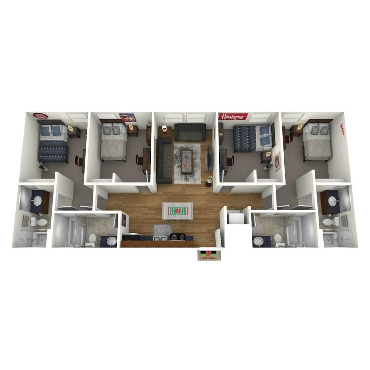 Floor plan image of 4x4