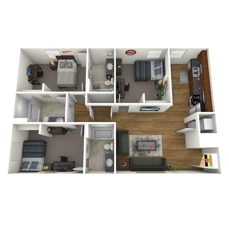 Floor plan image of 3x3