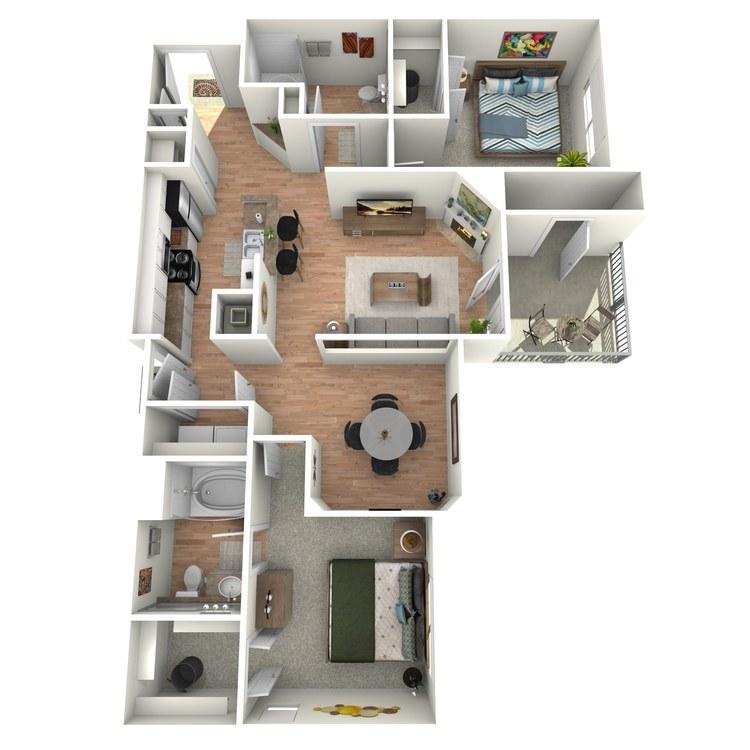 Floor plan image of Colonial  - B3 - 3
