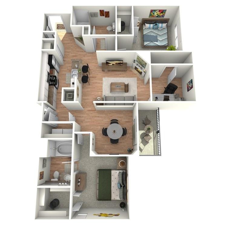 Floor plan image of Colonial - B4 - 1G