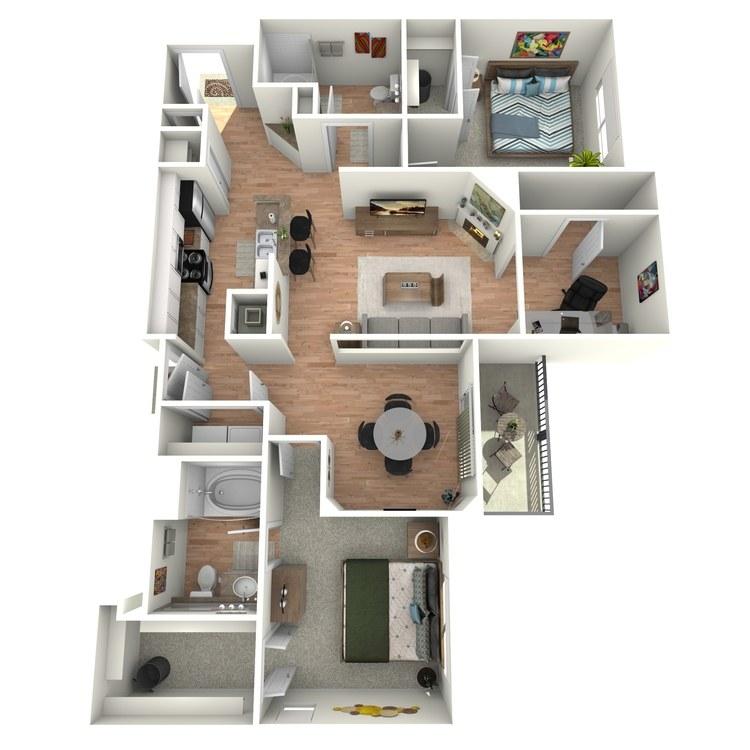 Floor plan image of Colonial - B5 - 3