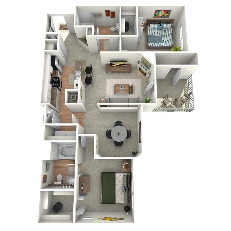 Floor plan image of Colonial - B1 - 2G