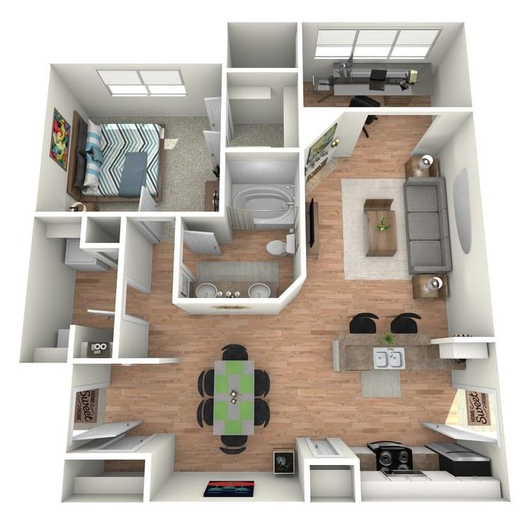 Floor plan image of Pebble Beach - A2 Sunroom/Study