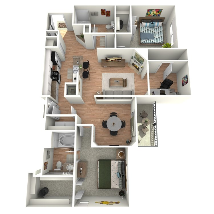 Floor plan image of Colonial  - B2 - 3