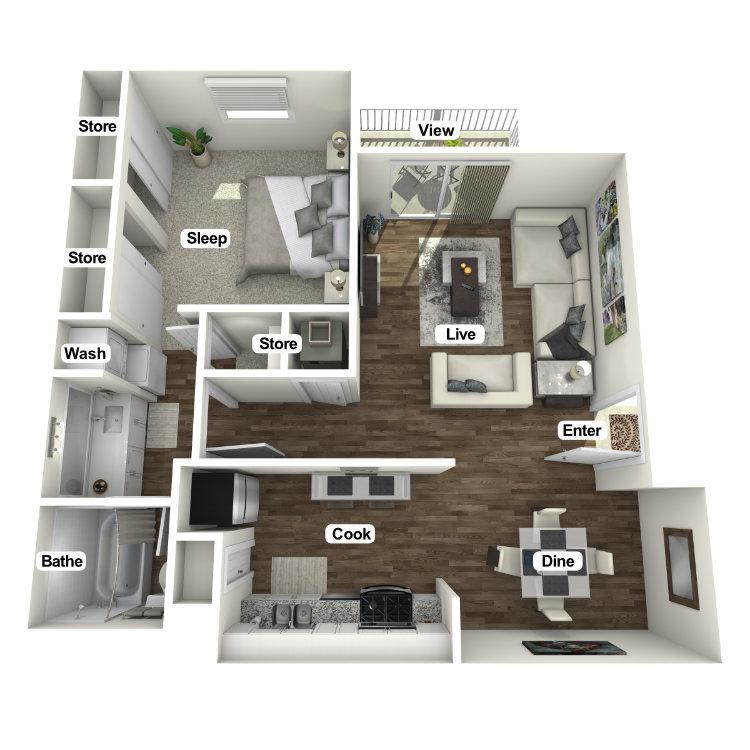 Floor plan image of The Hideaway B