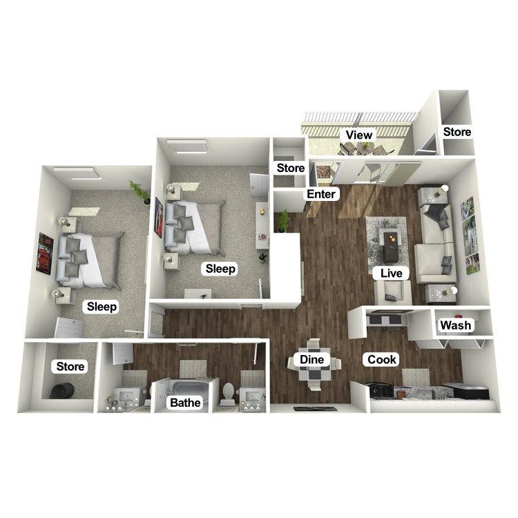 Floor plan image of The Sanctuary