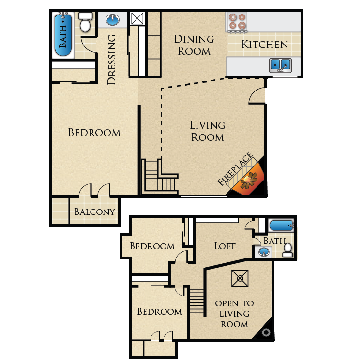 Floor plan image of The Townhome