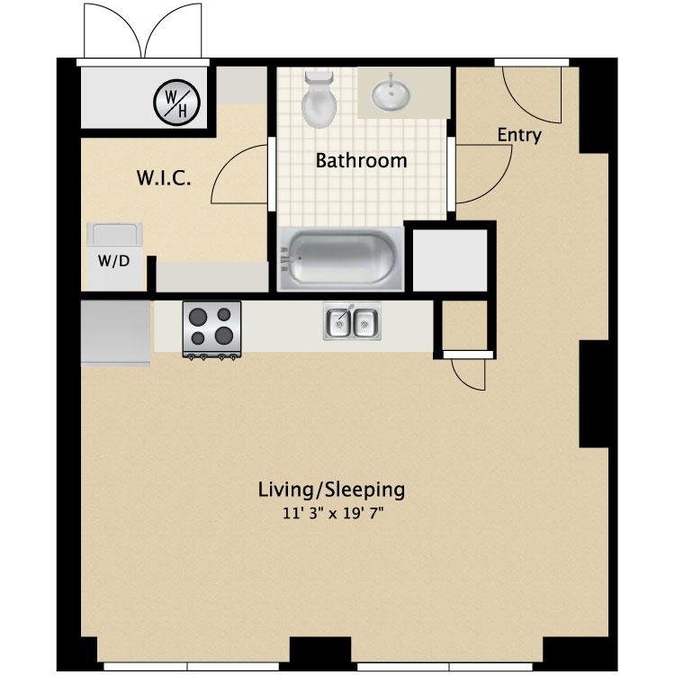 Floor plan image of Studio Efficiency C