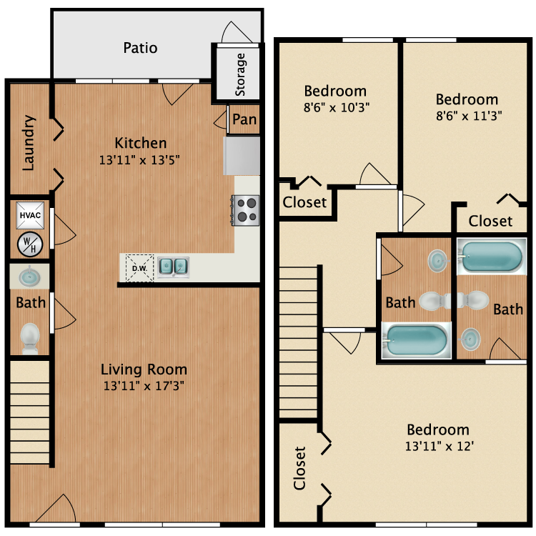 Floor plan image of Townhome