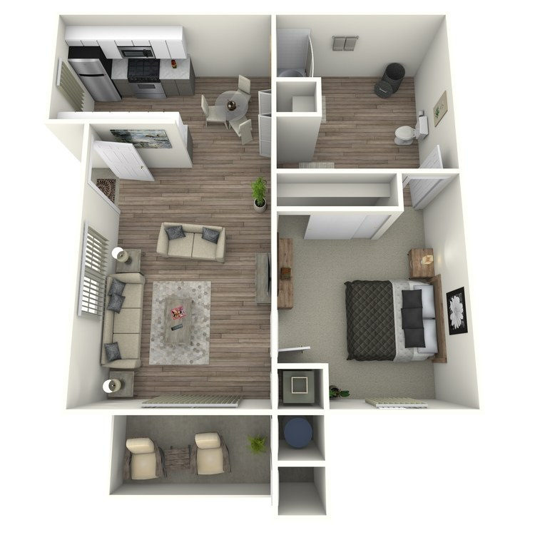 Floor plan image of 1 Bedroom 1 Bath