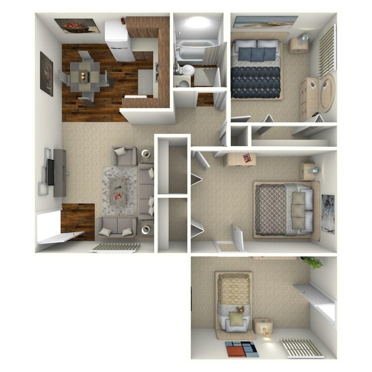 Floor plan image of 3X1