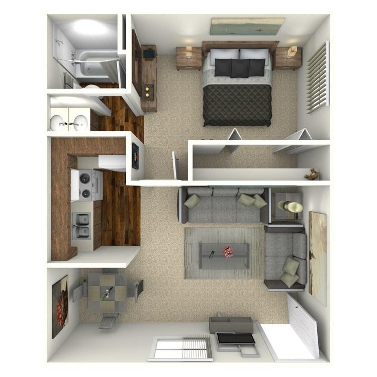 Floor plan image of 1X1