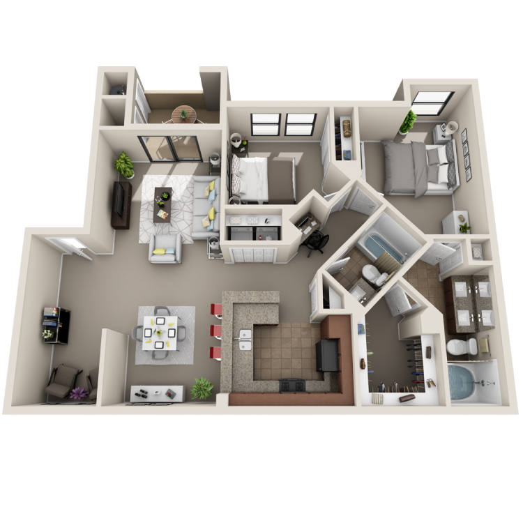 Floor plan image of Palms