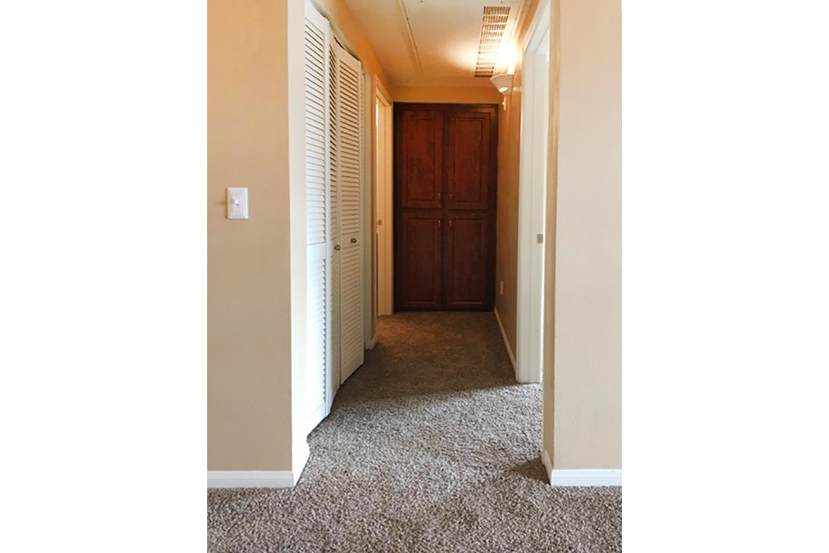 a door in a room