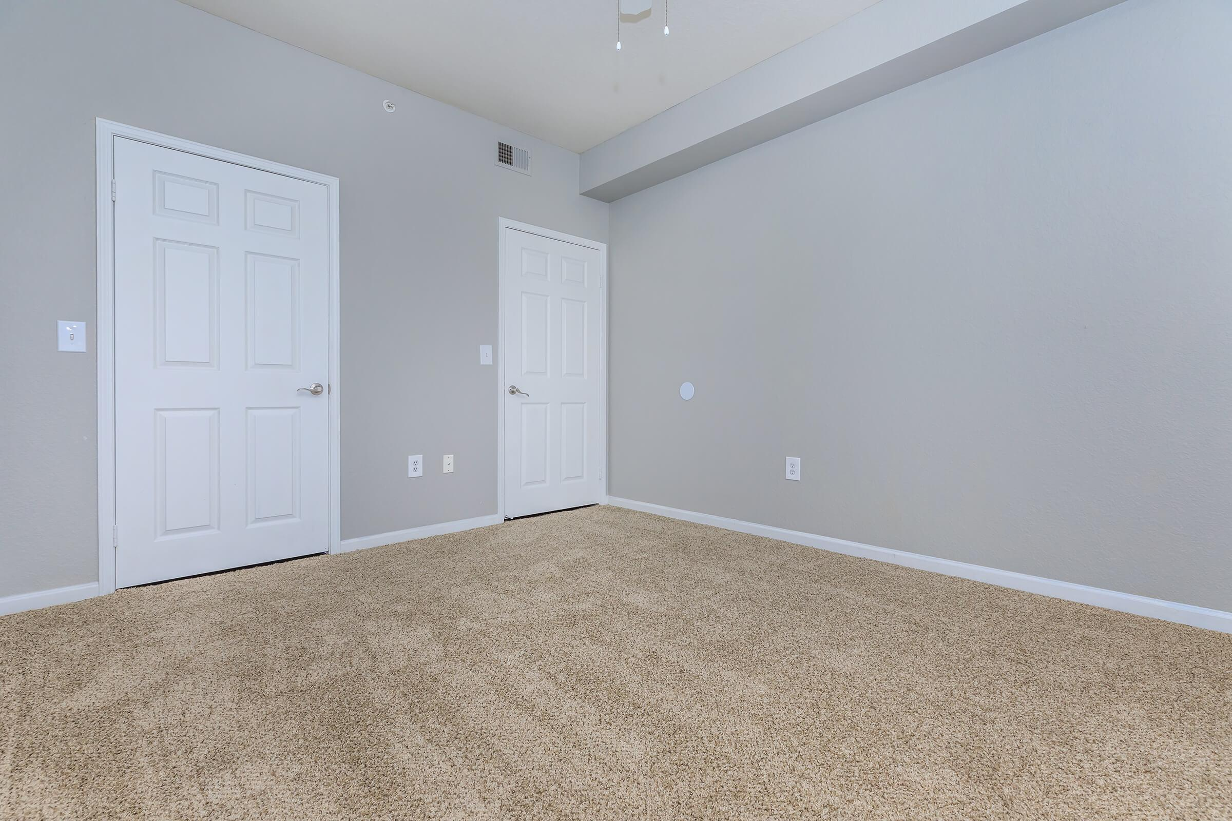 CLOSETS WITH ROOM FOR EVERYTHING!